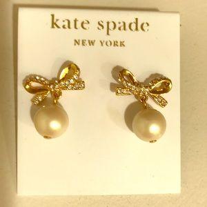 Kate Spade skinny mini faux-pearl drop earrings